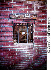 Old Style Jail - Wild american west old style jail window