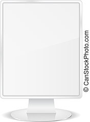 White vertical billboard, vector eps10 illustration