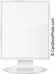 White vertical billboard, vector eps10 illustration