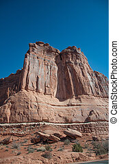 Rock Formation - Rock formation at the Moab desert in Utah