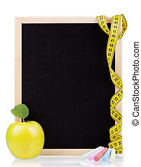 Small blackboard - Small wooden blank blackboard isolated on...