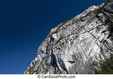 Stawamus Chief peak in Squamish, Canada