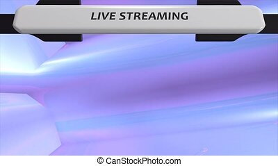 Live streaming/broadband graphic animation. green screen...