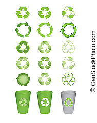 recycle icons - set of recycle icons