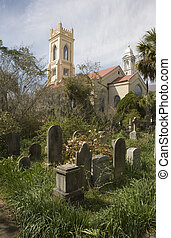 Unitarian Church Graveyard. Charleston, South Carolina