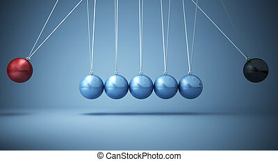 negative power - classic newton cradle with opposite power