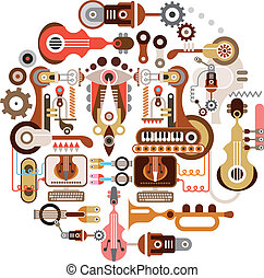Music Shop - Musical instrument shop - abstract...