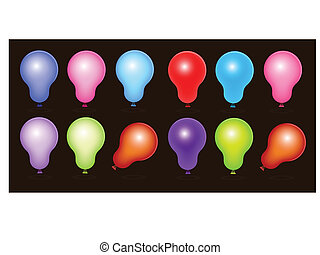 Royalty Free Balloons Vectors - Creative Abstract Conceptual...