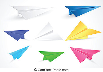 Origami Paper Planes Vectors - Creative Abstract Conceptual...