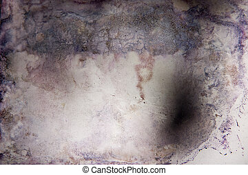 Flood damaged photograph abstract - The flood waters of...