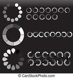 Preloaders Sets Vectors - Creative Abstract Conceptual...