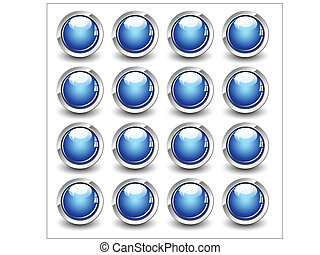High Gloss Vector Button - Creative Abstract Conceptual...