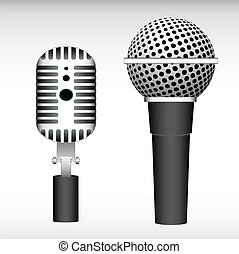 Mic Vectors - Creative Abstract Conceptual Design Art of Mic...