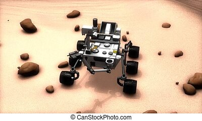 Mars rover - Artist recreation of Mars rover.