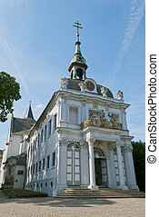 Kreuzberg Church in Bonn, Germany on blue sky background