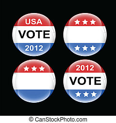 Voting Badge USA Vectors