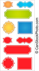 Scrapbooking Labels Vectors