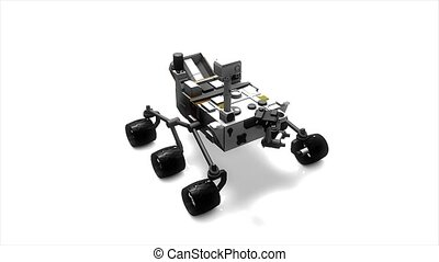 Mars rover - Artist recreation of Mars rover Alpha Matte...