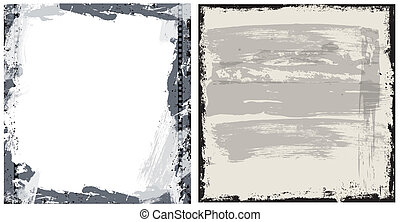 Grunge Background Vector Set - Creative Abstract Conceptual...