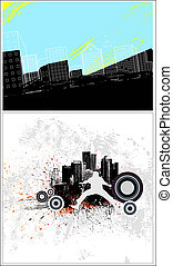Urban Style Vector Backgrounds - Creative Abstract...