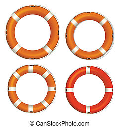 Lifebuoy Icons Vectors - Creative Abstract Conceptual Design...