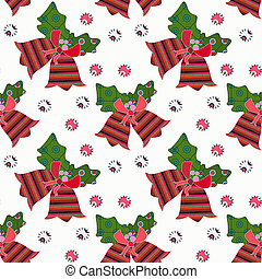 White christmas pattern - Seamless white christmas pattern,...