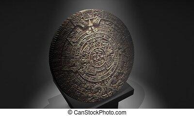 Maya calendar - Cgi Maya calendar over a pillar
