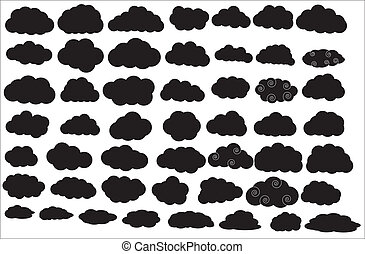Clouds Silhouettes - Creative Abstract Conceptual Design Art...
