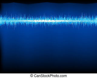 Sound waves oscillating on black. EPS 8