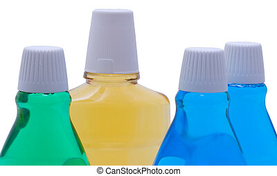 Bottles With Mint Mouthwash - Bottles with mint mouthwash...