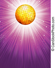 Purple disco rays with stars. EPS 8 vector file included