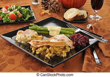 helgdag, turkiet, middag
