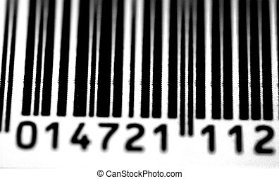 Barcode Close-Up - A black and white close up of a bar code