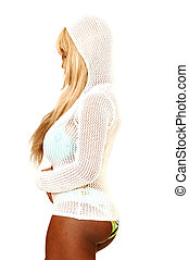 Sexy blond woman in bikin - An friendly blond woman in...