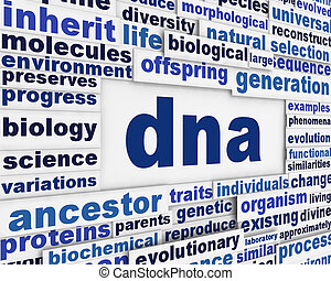 Dna message background