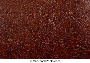 Brown leather texture closeup Useful as background for...