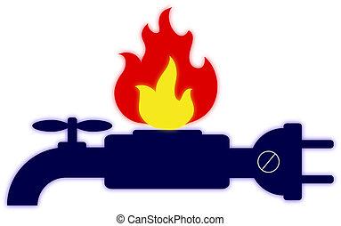 Technical Services logo - Logo of technical services, gas,...