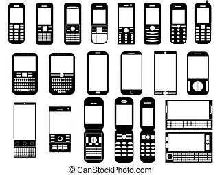 Set of mobile phones