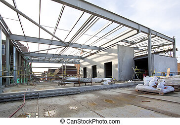 Steel Frame Construction - Steel frame construction at...