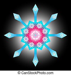 Multicolored decorative snowflake