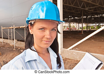 Young engineer at  construction site