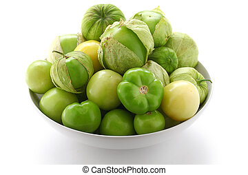 tomatillo - mexican vegetable, salsa verde ingredient