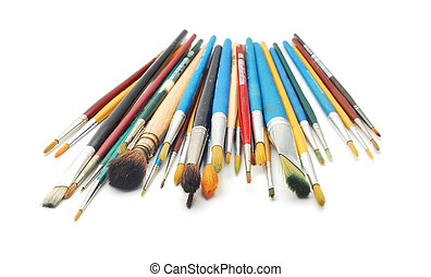 paint brush - a bunch of paint brushes in different sizes...