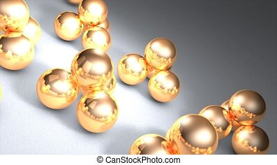 Metal ball - Loop background animation, metal ball.