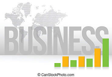 business graph map and background