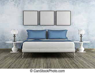 Modern and vintage bedroom - Modern bad in a vintage room -...