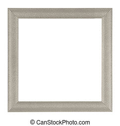 Metalic frame - Metalic square frame isolated on white...