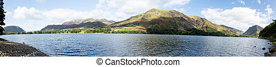 Reflections in Buttermere in Lake District - Mountains...