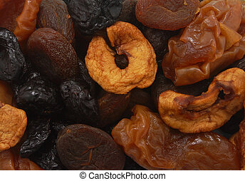 Dried fruit slices - Background of dried fruit slices