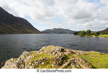 View over Crummock Water in Lake District